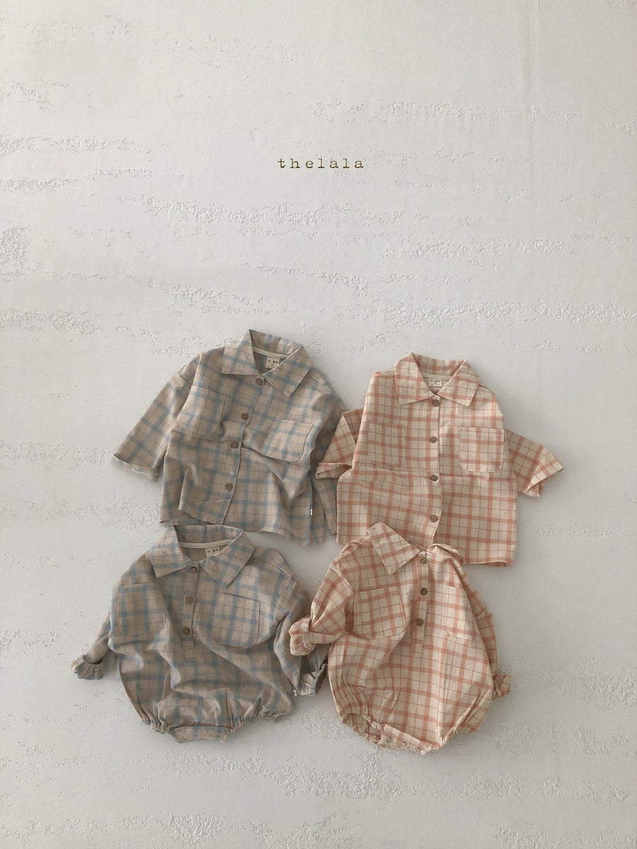 Lala Checked Romper (2 colour options) - ooyoo