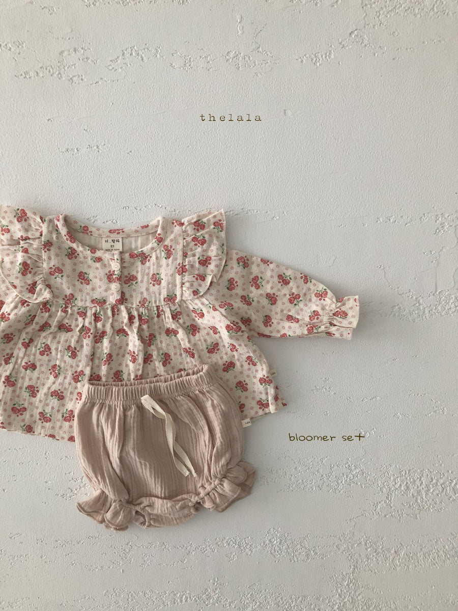 Lala Floral Blouse and Bloomer Set (2 colour options) - ooyoo