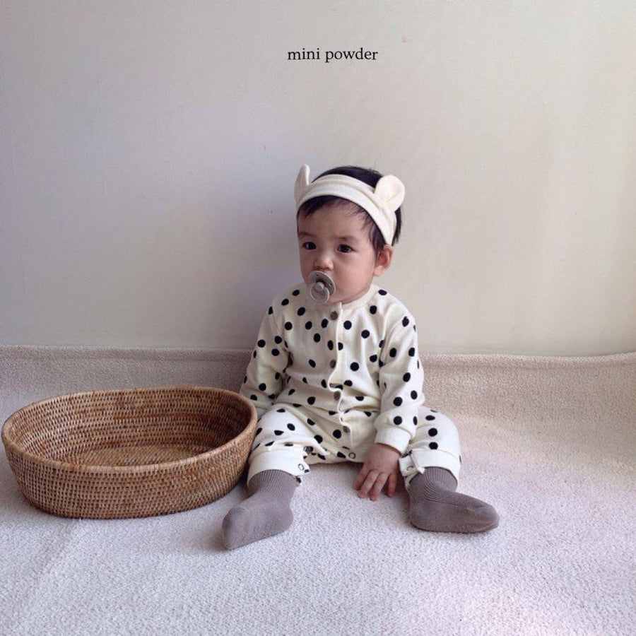 Mini Powder Dotty Babygrow - ooyoo