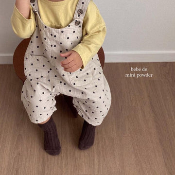 Mini Powder Dotty Overalls (2 colour options) - ooyoo