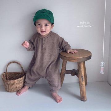 Mini Powder Waffle Babygrow (2 colour options) - ooyoo
