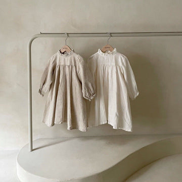 Monbebe Linen Dress (2 colour options) - ooyoo
