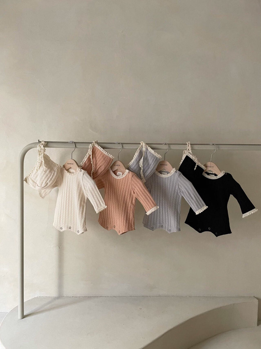 Monbebe Pointelle Romper (3 colour options) - ooyoo