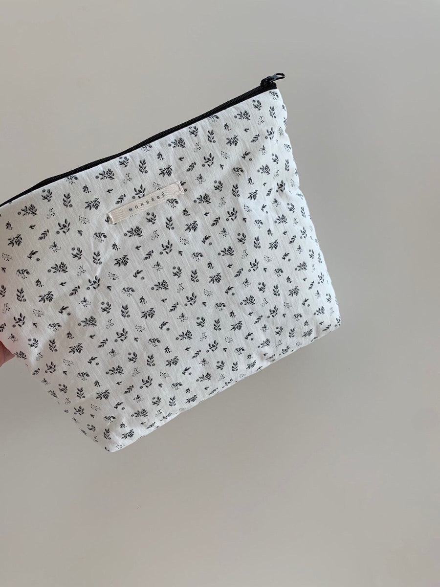 Monbebe Printed Cotton Pouch (4 colour options) - ooyoo