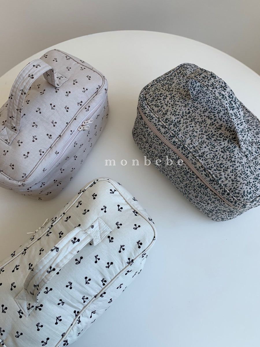 Monbebe Printed Cotton Washbag (3 colour options) - ooyoo