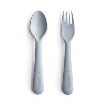 Mushie Fork & Spoon (Cloud) - ooyoo