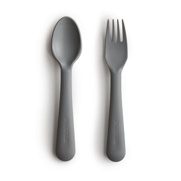 Mushie Fork & Spoon (Smoke) - ooyoo