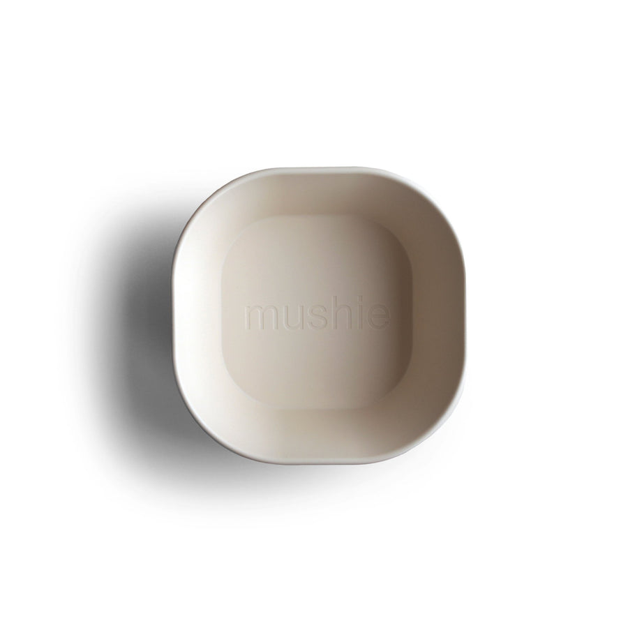 Mushie Square Bowl Set (Ivory) - ooyoo