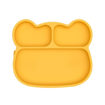WMBT Bear Stickie Plate (Yellow) - ooyoo