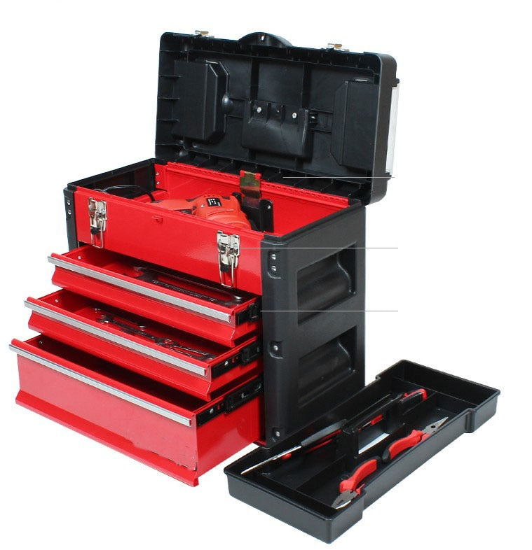 Multi-Function 4 Layer Trolley Tool Box