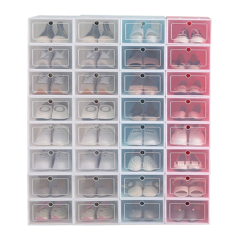 12pcs Shoe Box Storage Organizer