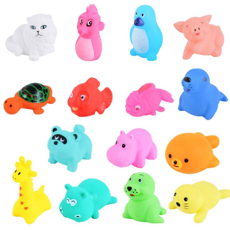 13 Pcs Cute Animals Floating Rubber Toys