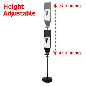 ADJUSTABLE DISPENSER FLOOR STAND