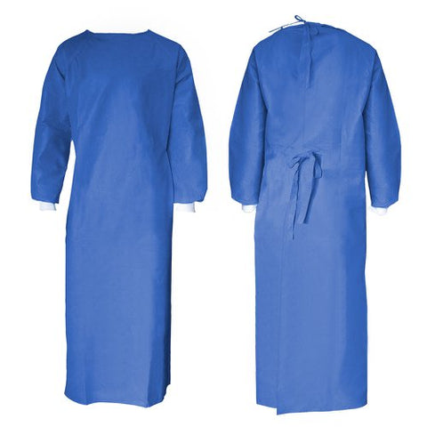 PPE LEVEL 2 GOWNS - 40 GSM SMS WHITE CUFFS