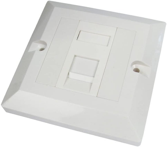RJ45 CAT5E 1 RJ45 Module Socket In Single Gang Face Plate