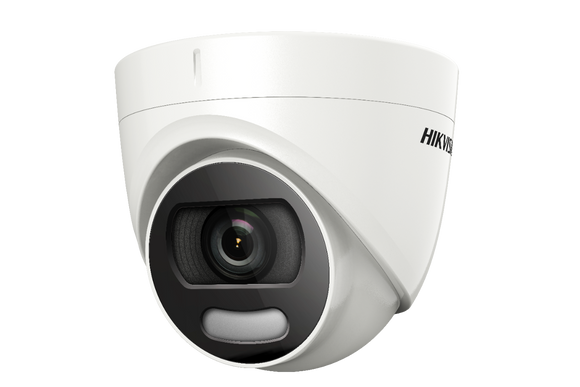 Hikvision 2MP Turbo HD ColorVu 20m IR 2.8mm Fixed Lens PIR Turret Camera