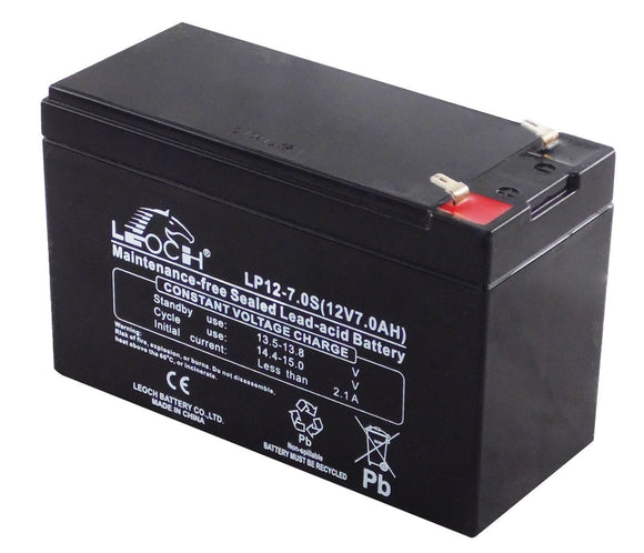 Leoch 12v 7Ah Sealed Lead Acid Security Alarm Battery