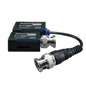 MaxxOne 1 Channel Passive HD Video Balun, Push-Pin Terminal with One Pigtail