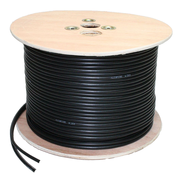 MaxxOne Black RG59 (CCA) + 2 Wire Power 100m Cable