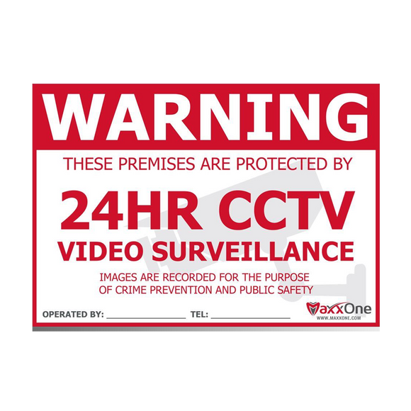 MaxxOne A5 3mm Foamex CCTV Warning Sign