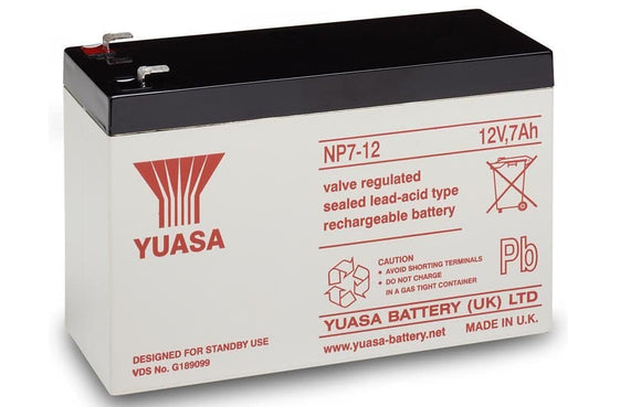 YUASA 12 Volt 7Ah Sealed Lead Acid Battery