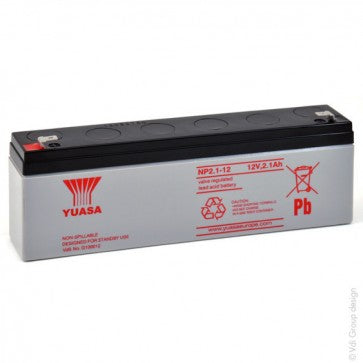 YUASA 12 Volt 2Ah Sealed Lead Acid Battery