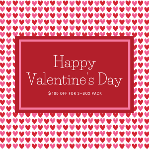 Valentine Sale: $100 off orders on 3-box pack (code: 623HM3HYNE14)