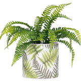 Gazebo Fern Motif Ceramic Drop Planter