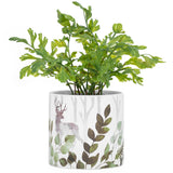 Gazebo Stag Motif Ceramic Drop Planter
