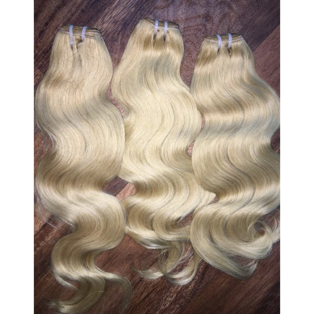 raw vietnamese blonde #613 hair wavy