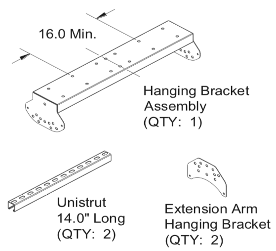 HS040 - Ultimate Mounting Kit for HAB20 The Habanero, Pole Mount, Hang from Ceiling or Horizontal Wall Mount