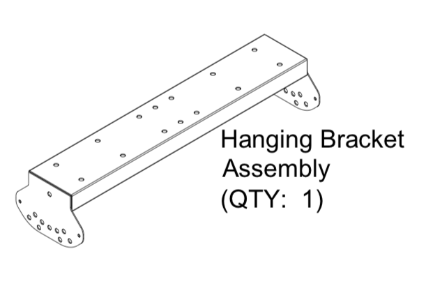 HS041 - Low Clearance Mounting Kit for HAB20 The Habanero, Ceiling Mount