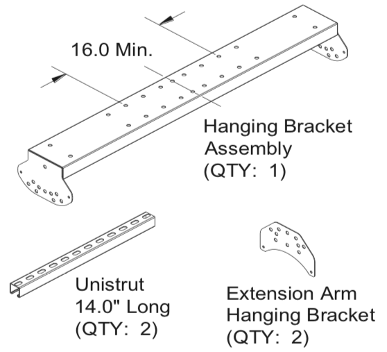 HS043 - Ultimate Mounting Kit for HAB40/50 The Habanero, Pole Mount, Hang from Ceiling or Horizontal Wall Mount