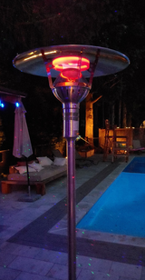 GA301MP - IR Energy evenGLO, 53,000 btu, NG or LPG Gas Patio Heater, Portable, Easy Connect