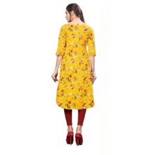 Load image into Gallery viewer, Carissa Crepe Women's Kurtis Vol 5 - Yellow Kurti