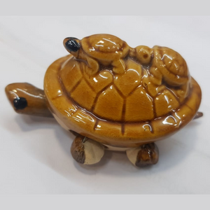 Triple Turtle, Wealth and Longevity for Decorative Showpieces
