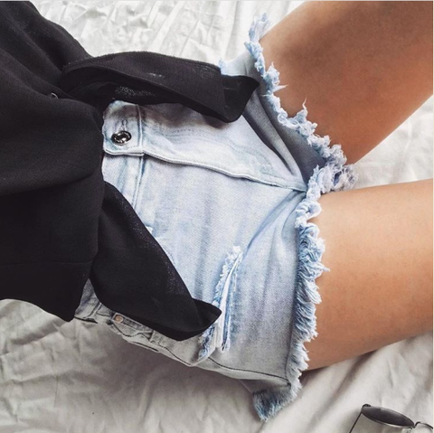 country denim shorts