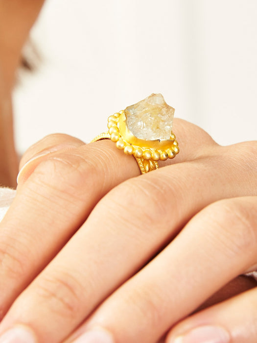 Gemstone Rings - filagree quartz