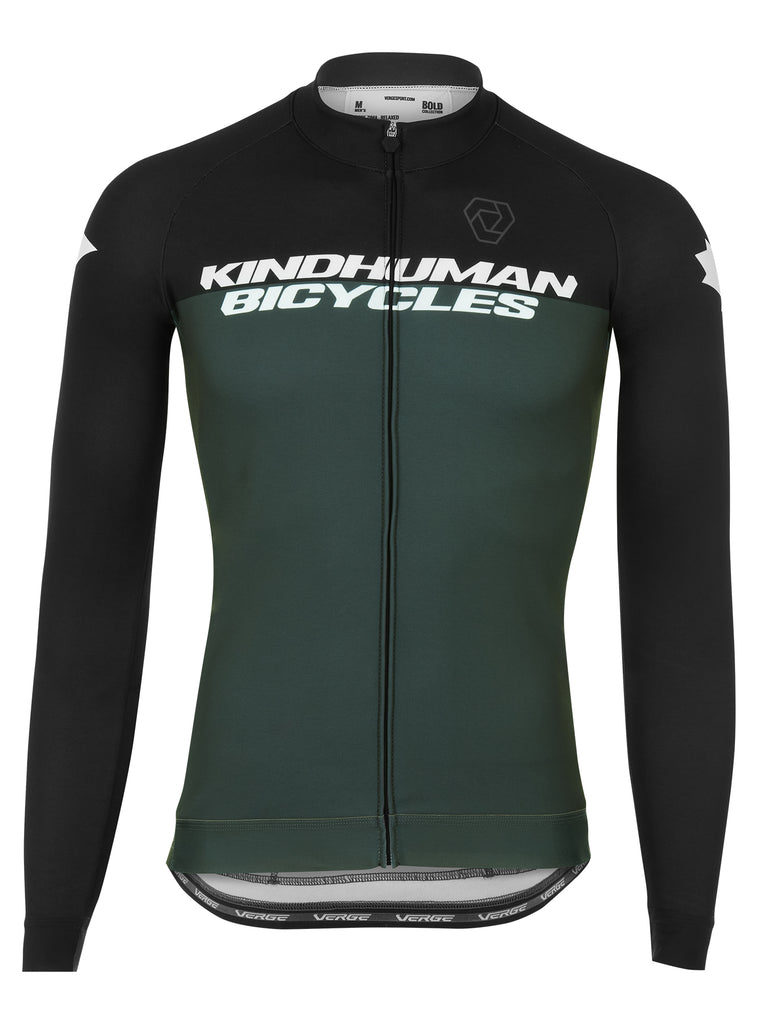 KindHuman Bicycles Long Sleeve Jersey - Men's Relaxed Cut - Grey
