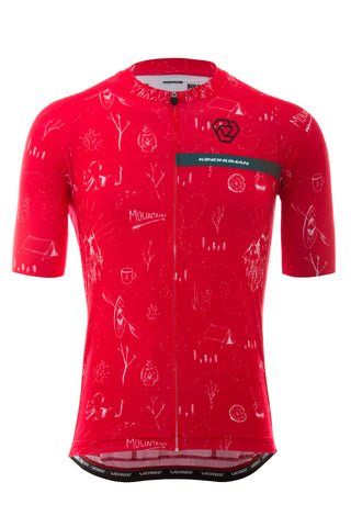 Strike 2.0 Short Sleeve Jersey - Men's Relaxed - Adventure - Red