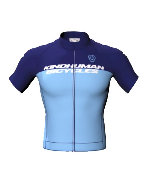 KindHuman Bicycles Jersey - Men's Relaxed Cut - Kind Blue