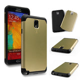 Champagne Gold Tough Armor Back Case for Samsung Galaxy Note 3