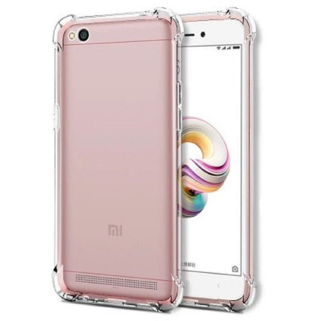 Xiaomi Redmi 5A Back Case Cover | Flexible Shockproof Tpu | Cushioned Edges | Premium Design - Transparent