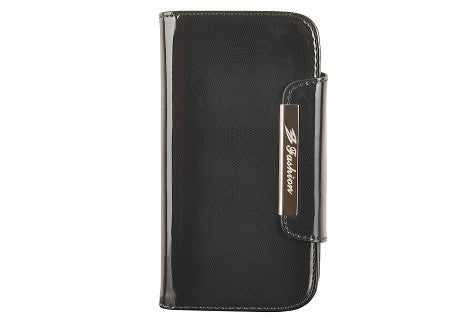 Glossy Black Leather Wallet Leather Case for Samsung Galaxy S3 i9300