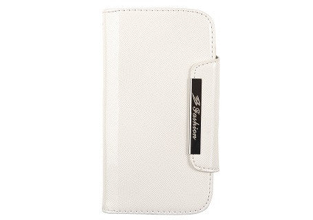 Glossy White Leather Wallet Leather Case for Samsung Galaxy S3 i9300