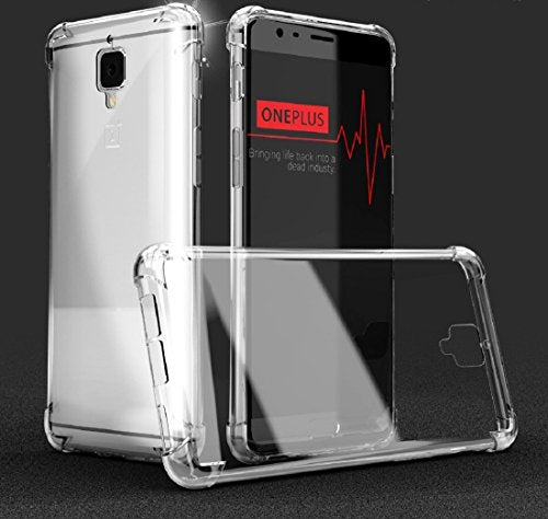 Bracevor Shockproof Hybrid Clear Protection Case Cover For OnePlus 3/ One Plus 3T - Transparent