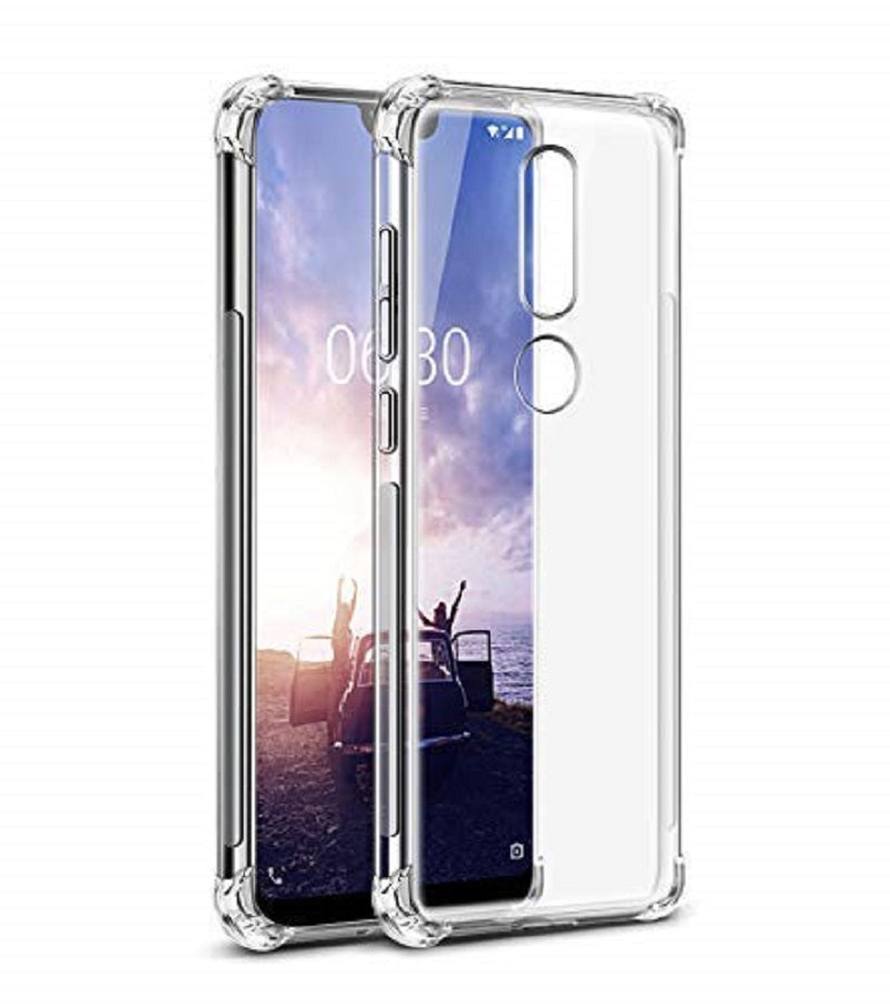 Bracevor Flexible Shockproof TPU for Nokia 8.1 | Nokia 7.1 Plus Back Case Cover | Ultimate Edge Protection | Cushioned Edges | Premium Design - Transparent