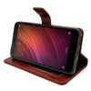 Bracevor Flip Cover Case For Redmi Note 4 AUTO Sleep Wake | Premium Leather | Foldable Stand - Executive Brown