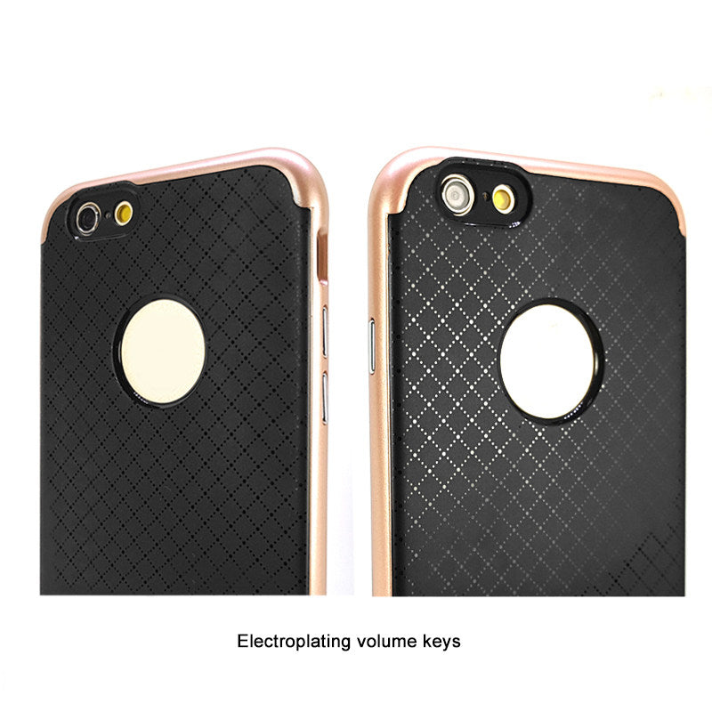 Shockproof Carbon Fiber Hybrid Apple iPhone 6 6s Back Case Cover - Golden