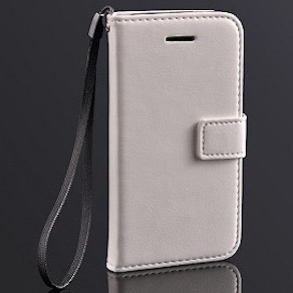 Deluxe White Apple iPhone 5c Wallet Leather Case